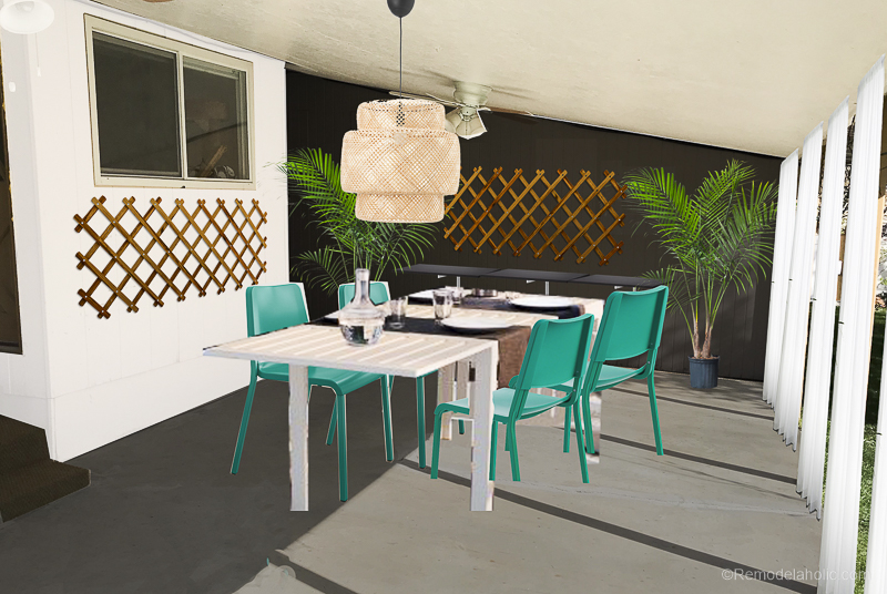 Outdoor Dining Room With IKEA Furniture @Remodelaholic 15