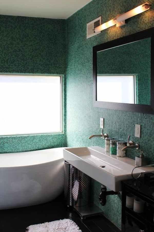 Remodelaholic Color Files Jade Green Bathroom 2
