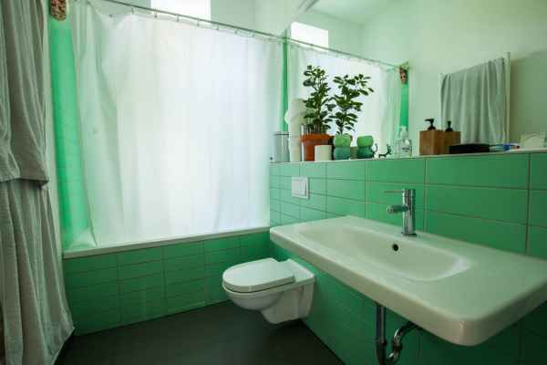 Remodelaholic Color Files Jade Green Tile Bathroom