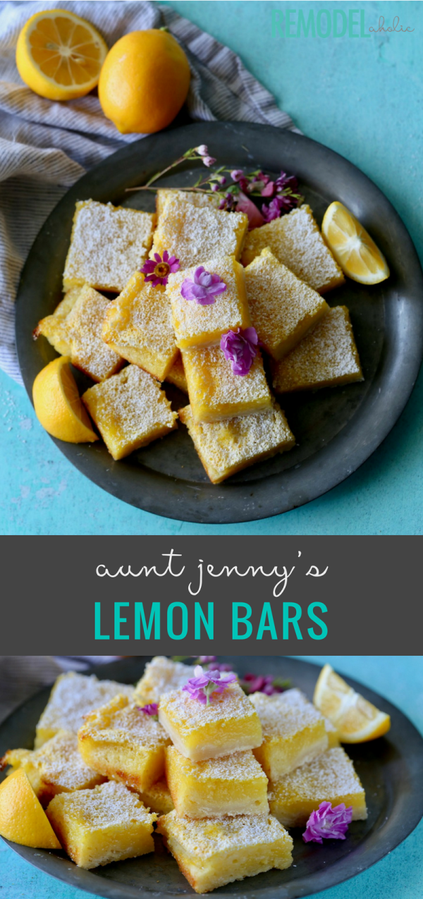 A delicious, simple and crowd pleasing dessert. Try our favorite recipe for Lemon Bars at Remodelaholic.com #Dessert #Recipe #LemonBars #dessertrecipe