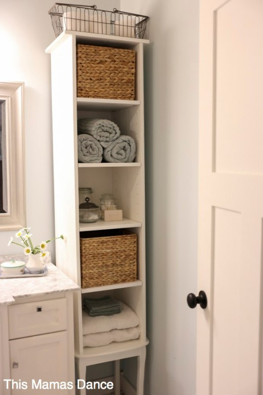 White Bathroom Shelf