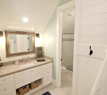 Coastal Rustic Bathroom Remodelaholic