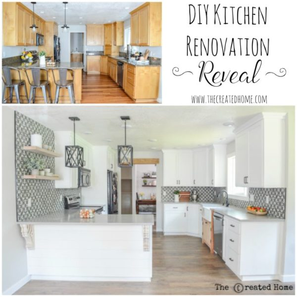 Kitchen Renovation Before And After, The Created Home