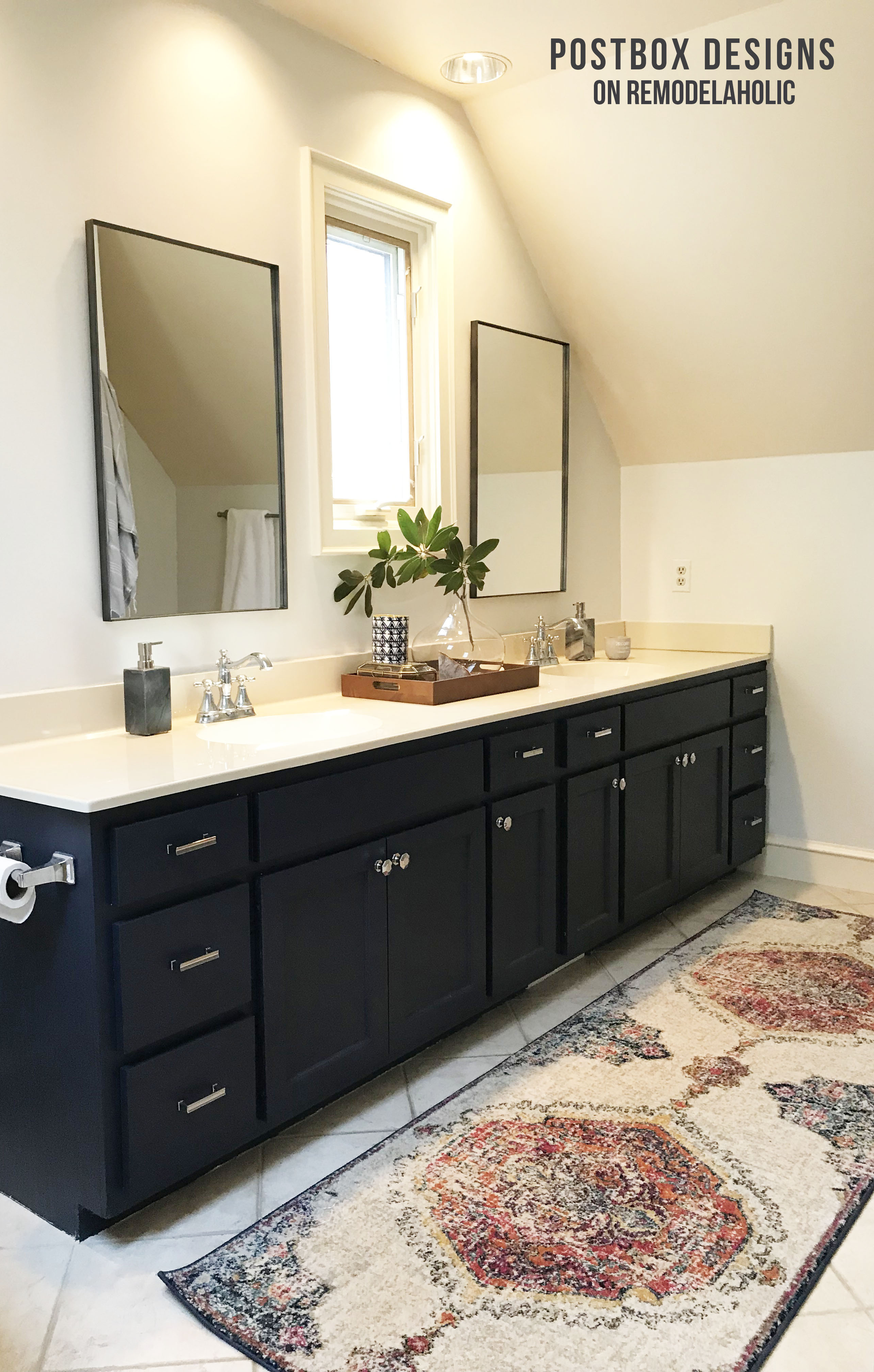 Remodelaholic | $950 Budget Bathroom Makeover: How I Updated My