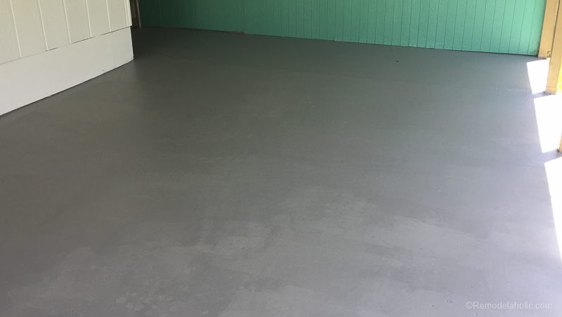 Painting A Patio With UGL Epoxy Floor Paint @Remodelaholic 29