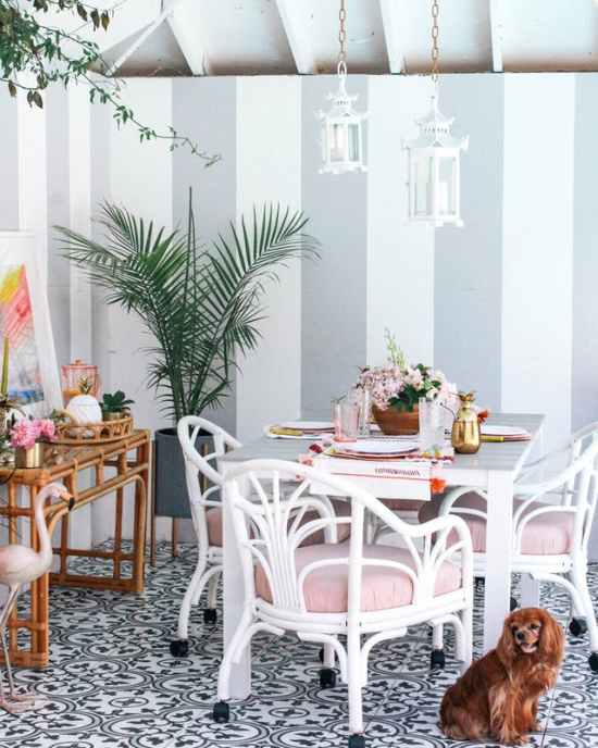 Millennial Pink: How to Decorate and Accent Your Home Decor | At Home With Ashley Outdoor Space featured on #Remodelaholic #ColorFiles