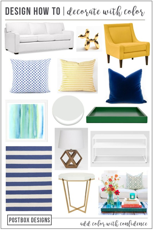 Postbox Designs: 6 Tips to Decorating with Color in your Living Room Design