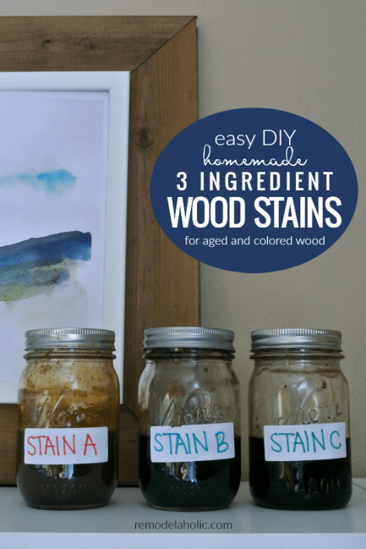 Easy Diy Homemade Wood Stains To Age Wood Naturally And Add Color Using Ingredients From The Pantry #remodelaholic