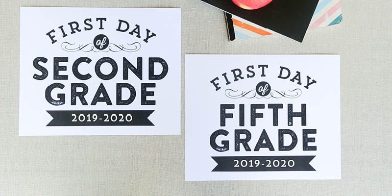 image relating to Printable First Day of School Signs referred to as Remodelaholic Printable 1st Working day of Higher education Indications (Up-to-date