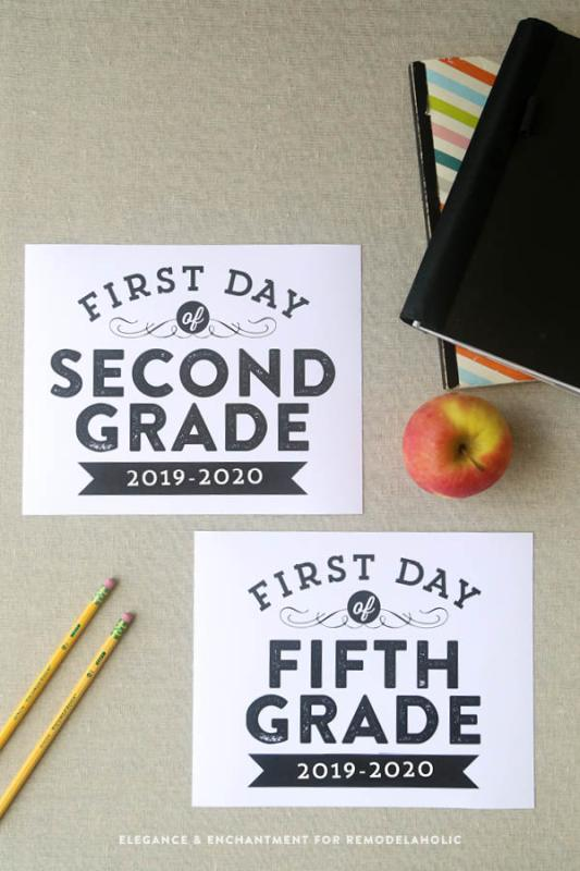 2019 2020 First Day Of School Photo Signs