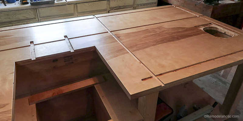 Table Saw Workbench @Remodelaholic 42