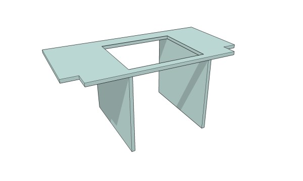 Workbench Model Steps 10.0 Table Saw Shelf And Supports