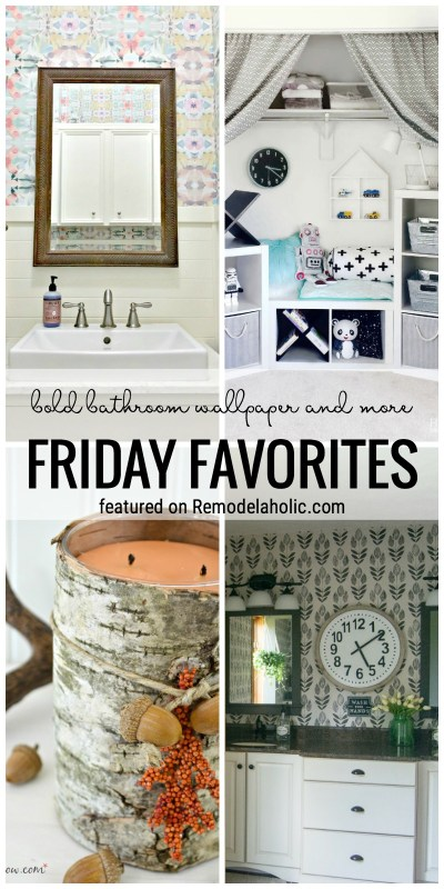 Beautiful And Bold Bathroom Wallpaper Ideas And More Featured On Friday Favorites At Remodelaholic.com