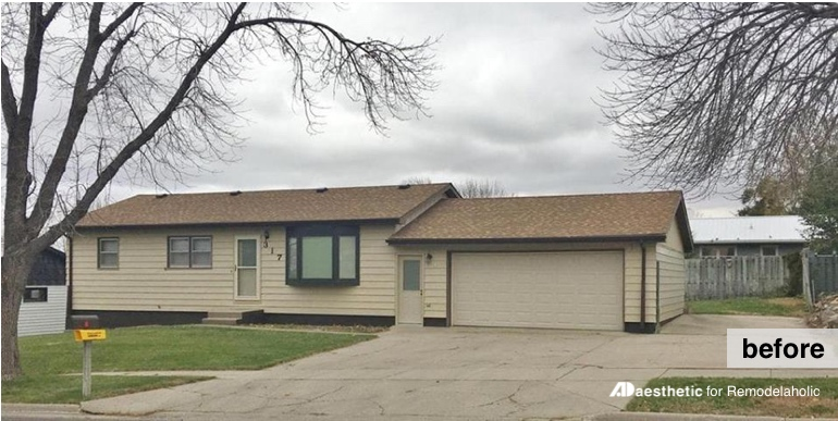 Before | Reimagined Ranch Exterior and Curb Appeal Ideas