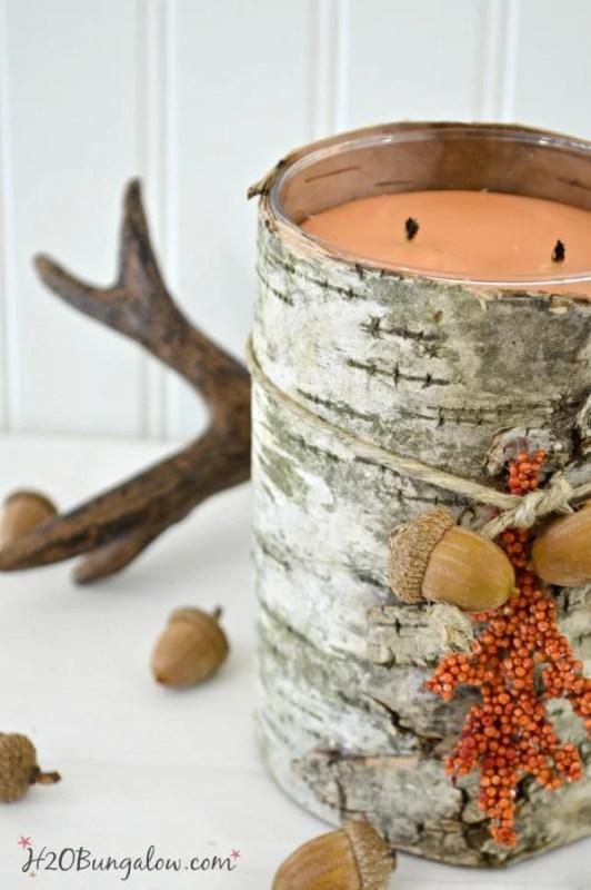 DIY Natural Birch Bark Candle H2OBunglow