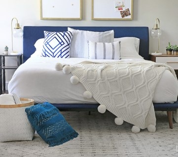 Mid Century Modern Bedroom Decorated