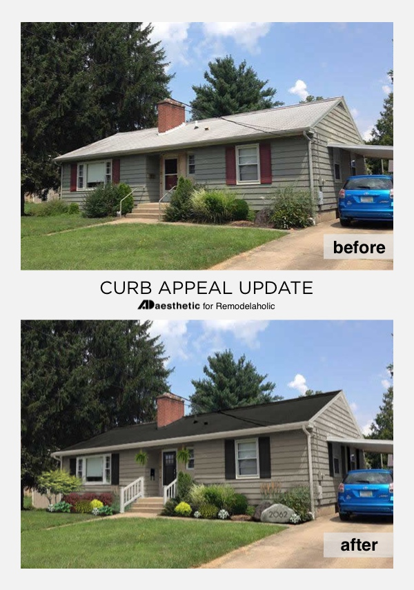 See how simple ranch-style home exterior updates make a basic home stand out with these ideas for updated ranch curb appeal in this virtual home makeover.