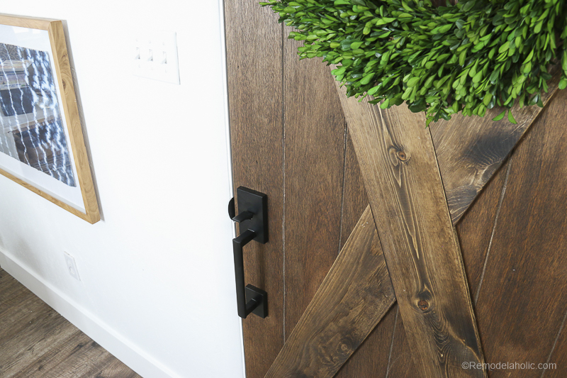 Barn Door From An Old Solid Core Door Makeover @Remodelaholic 67