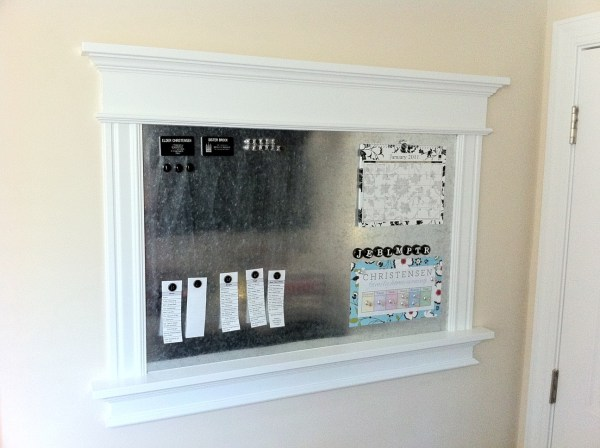 Diy Magnet Board From Scratch Tutorial #remodelaholic