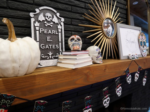 Dollar Store Halloween Hacks And Mantel Decor @Remodelaholic 65