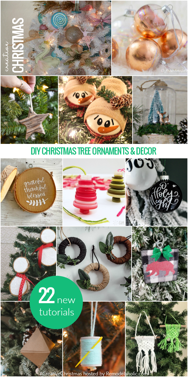 Creative Christmas 2018: new tutorials for Christmas tree ornaments, Christmas decor, winter wreaths, and more #remodelaholic