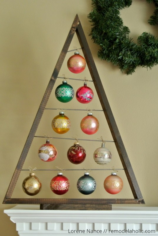 Build A Diy Ornament Display Tree Tutorial And Woodworking Plan #remodelaholic