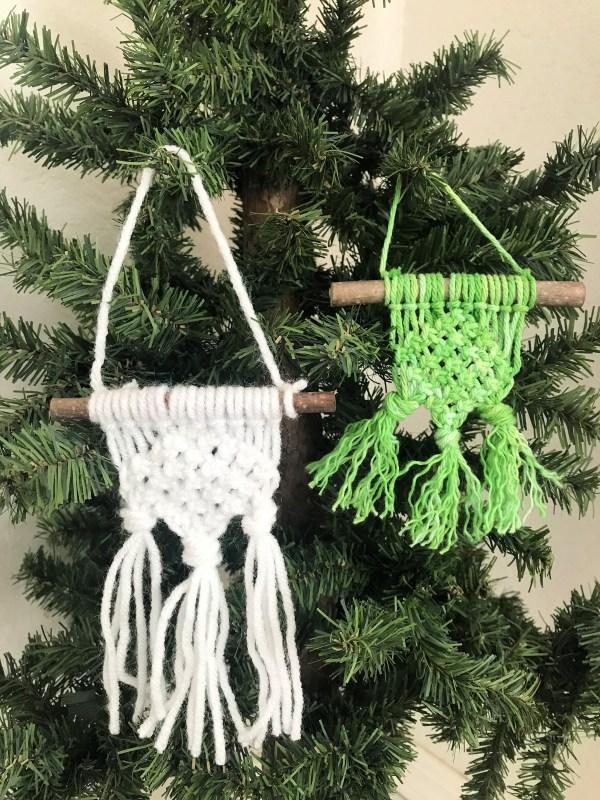 Denise G Frazzled Joy DIY Macrame Christmas Ornaments