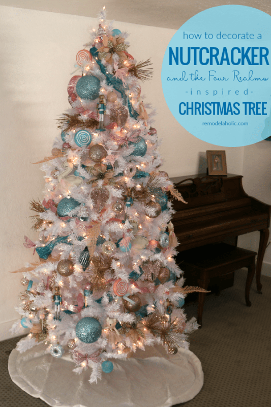 Remodelaholic Blue Pink And Gold Nutcracker Christmas Tree