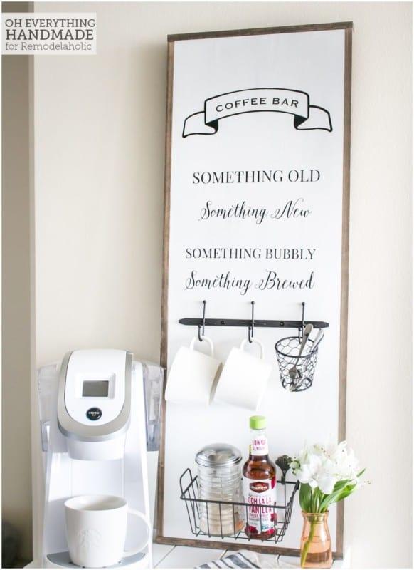 Coffee Bar Sign Via OhEverythingHandmade Finished Project3 E1471609269870