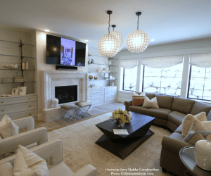 Various Styles Of Seating Add Variation And Ensure Everyone Has A Place To Relax Jerry Stubbs And Tique And Co 2018 Utah Valley Parade Of Homes Featured On Remodelaholic