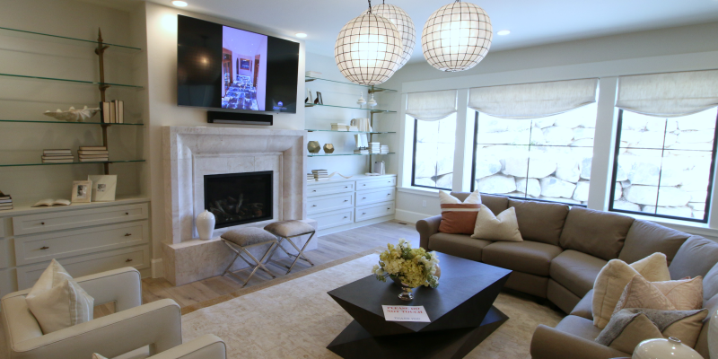 Get This Look: Modern Transitional Style Living Room