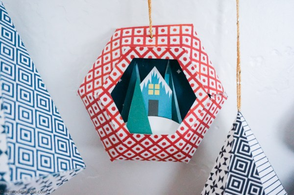 Diy Printable Paper Ornaments To Fold And Decorate For Christmas And Winter #remodelaholic (12)