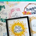 Easy Printable Gift Idea 10 Seasonal Art Prints Set Digital Download Print At Home #remodelaholic