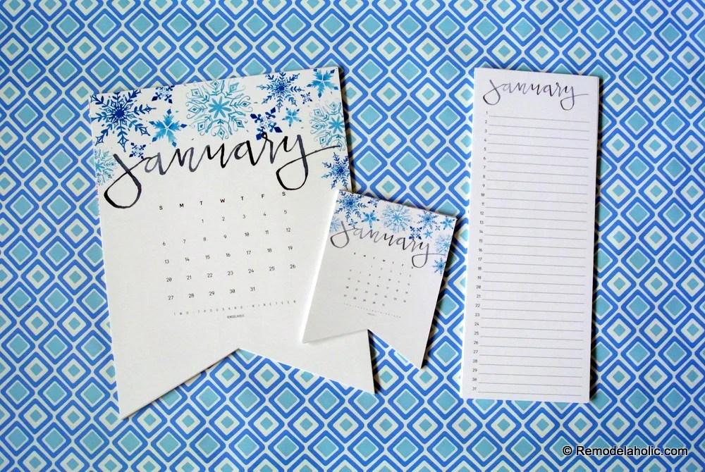photo relating to Printable Perpetual Calendar named Remodelaholic 2019 Watercolor Handlettered Printable
