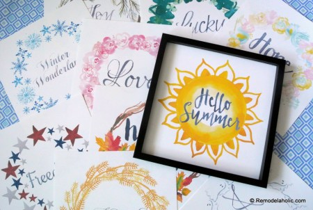 Printable Seasonal Art Set For Easy Holiday Decorating #remodelaholic