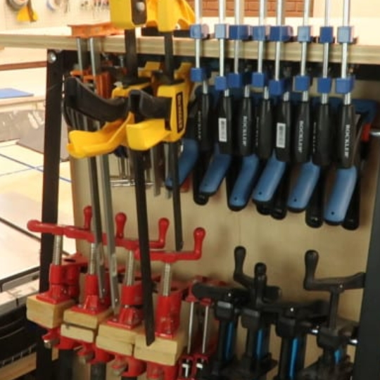 Workshop Organization Sturdy Mobile Clamp Rack And Tool Storage System