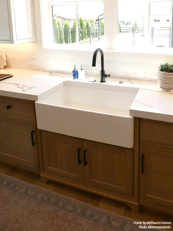 Apron Front Sink In Modern Farmhouse Kitchen Millhaven Homes And Four Chairs Design 2018 Utah Valley Parade Of Homes Featured On Remodelaholic