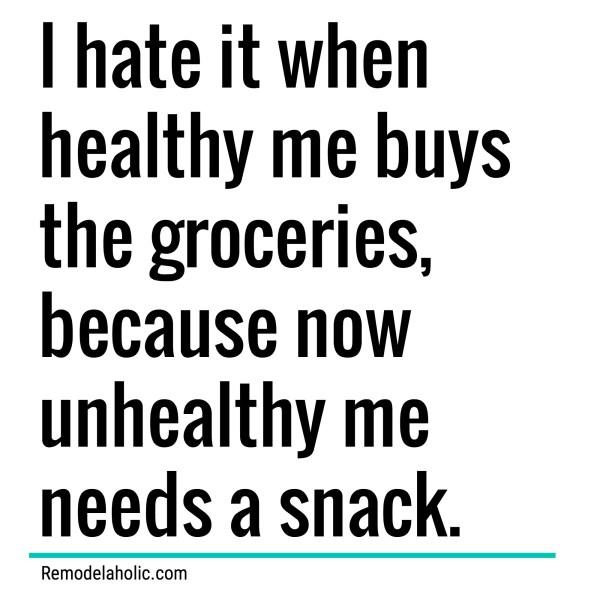 Healthyunhealthy Groceries Meme Remodelaholic.com