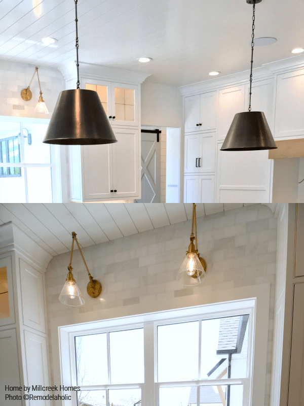 Rustic Lighting In Modern Farmhouse Kitchen Millhaven Homes And Four Chairs Design 2018 Utah Valley Parade Of Homes Featured On Remodelaholic