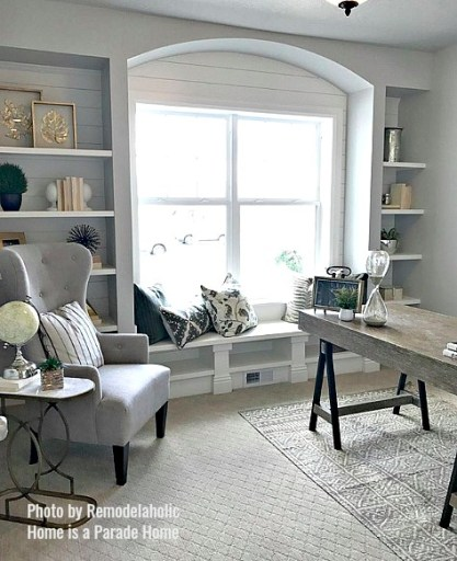 Beautiful home office inspiration, from modern to neutral, featured on #remodelaholic