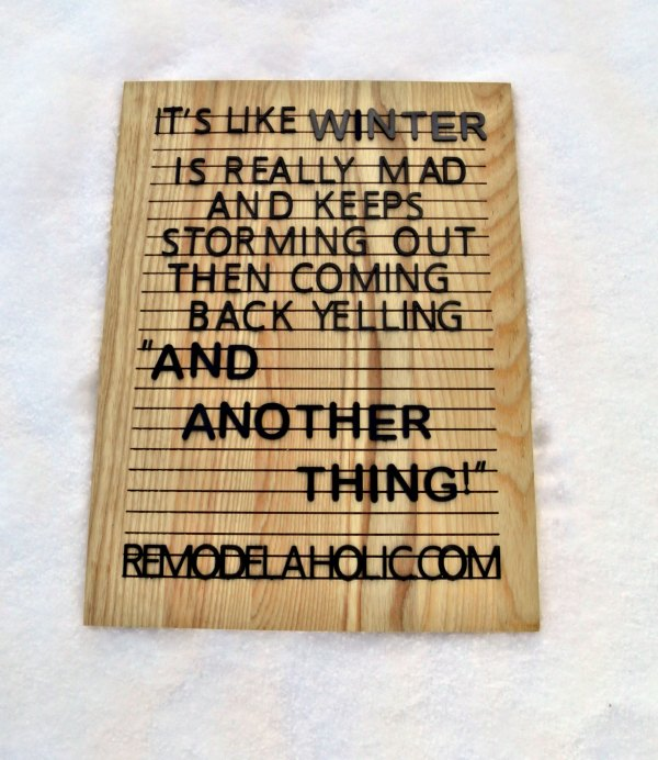 Winter Mad Meme Remodelaholic.com