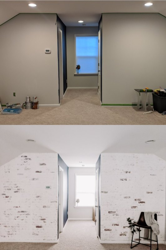 Before And After DIY Brick Transformation 01