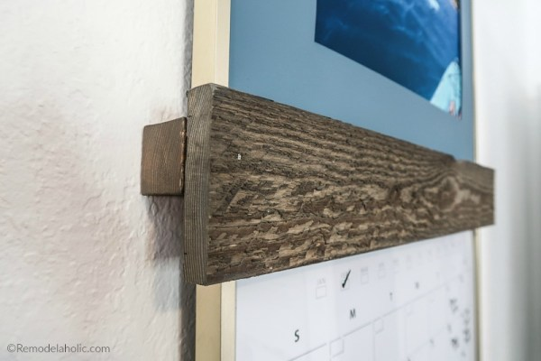 Easy Set Of Sliding Picture Ledges Made From Inexpensive Hardware Store Lumber #remodelaholic