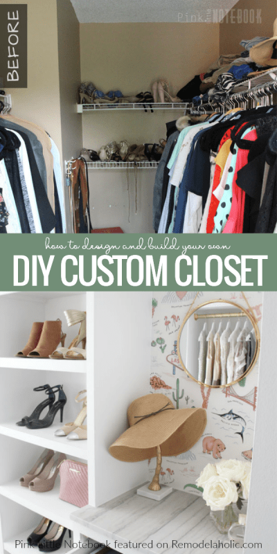 DIY Custom Walk-in Closet Organizer for a Builder Basic Closet