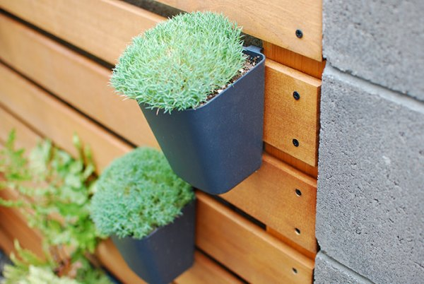IKEA Sunnersta And Variera Kitchen Organizers As Planters On A Wood Slat Garden Wall, The Garden Glove Featured On Remodelaholic