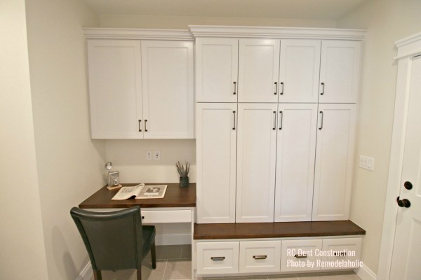 Mudroom Cabinets With Built In Desk RC Dent Constr .ed