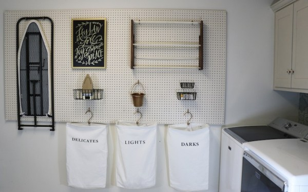 How To Hang Pegbpard For Perfect Laundry Room Storage