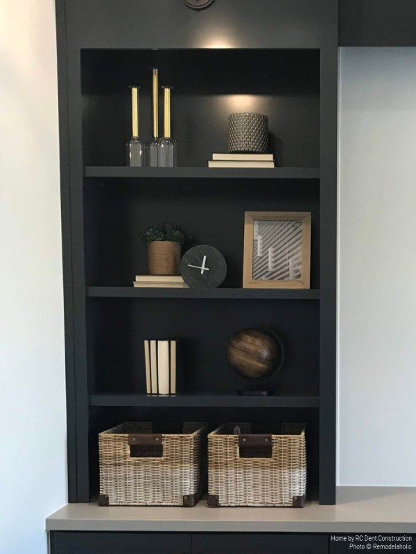 Painted Built In Shelving In Modern Home Office RC Dent Construction And Remedy Furniture And Design Utah Valley Parade Of Homes Featured On Remodelaholic