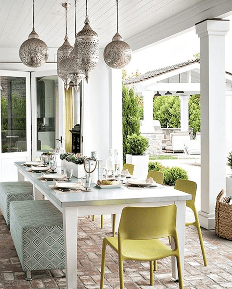 Global Inspired Outdoor Dining Space