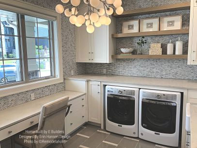 Beautiful Transitional Laundry Room E Builders, Erin Hansen Design